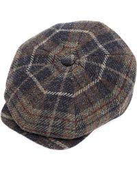Christys' - Payne Chunky Tweed Check Baker Boy Hat - Lyst
