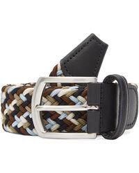Andersons Multicoloured Elasticated Woven Belt - Black