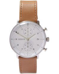 Junghans Max Bill Chronoscope Watch - Natural