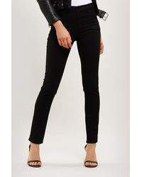 J Brand Ruby 30 Crop High Rise Cigarette Jeans - Black
