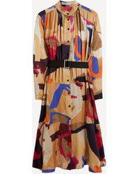 Palmer//Harding Leuca Printed Midi Shirt-dress - Multicolour