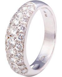 Kojis - White Gold Pave Diamond Ring - Lyst