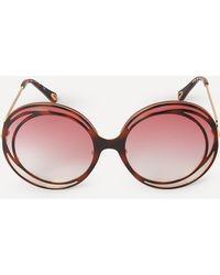 Chloé Carlina Halo Sunglasses - Pink