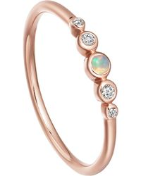 Astley Clarke Mini Icon Nova Opal Ring - Multicolor