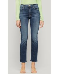 Mother The Mid-rise Dazzler Straight-leg Jeans - Blue