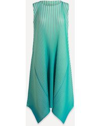 Pleats Please Issey Miyake Sunlight Volume Sleeveless Dress - Green