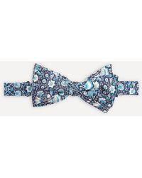 Liberty Lodden Pre-tied Silk Bow Tie - Blue