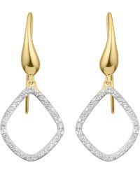 Monica Vinader - Gold Vermeil Riva Kite Diamond Earrings - Lyst