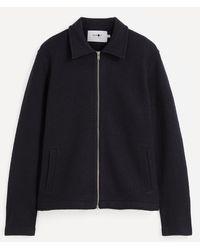 NN07 Ivan 6398 Merino Wool Jacket - Blue
