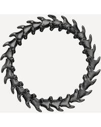 Shaun Leane Silver Black Rhodium Serpents Trace Wide Bracelet