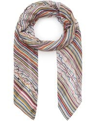 Paul Smith Scribble Print Scarf - Multicolour