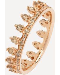 Annoushka 18ct Rose Gold Crown Brown Diamond Ring - Metallic