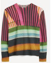 Dries Van Noten Stripe Print Sweater - Black