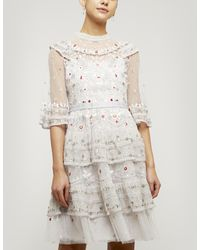 Needle & Thread Eden Mini Dress - Multicolour