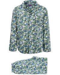 Liberty - Thorpe Long Cotton Pyjama Set - Lyst