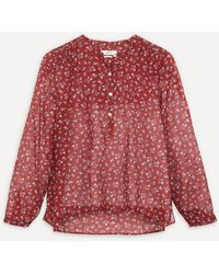 Étoile Isabel Marant Maria Printed Cotton Blouse - Red
