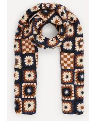 STORY mfg. Piece Xl Hand Crochet Scarf - Multicolour