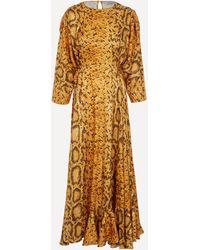 Preen By Thornton Bregazzi Claudia Snakeskin Print Dress - Multicolour