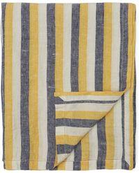 Frescobol Carioca Regular Stripe Linen Towel - Yellow