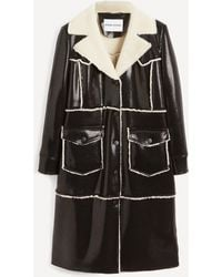 Stand Studio Adele Faux-shearling Faux-leather Coat - Black