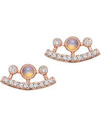 Astley Clarke - Icon Nova Ellipse Opal Stud Earrings - Lyst