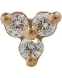 Maria Tash - Diamond Trinity Threaded Stud Earring - Lyst