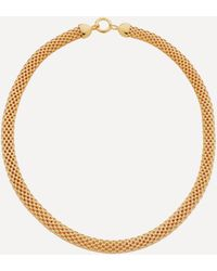 Monica Vinader X Doina Gold Plated Vermeil Silver Wide Chain Necklace - Metallic