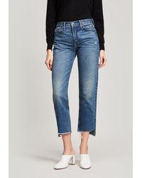 GRLFRND Helena Crop Jeans - Blue