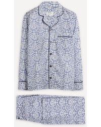 Liberty Mortimer Tana Lawn' Cotton Pyjama Set - Blue