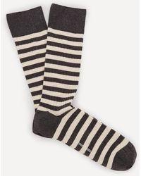 Oliver Spencer Miller Stripe Socks - Grey