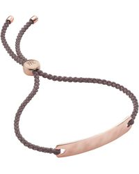 Monica Vinader Rose Gold Plated Vermeil Silver Havana Mini Friendship Bracelet - Metallic