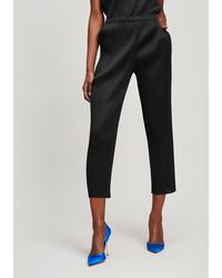 Pleats Please Issey Miyake Basic Slim Trousers - Black