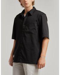 Han Kjobenhavn Short-sleeved Boxy Shirt - Black