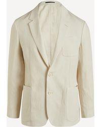 Paul Smith Two-button Linen Blazer - Multicolour
