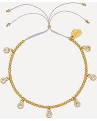 Estella Bartlett Gold-plated Multi Cubic Zirconia Droplets Louise Bracelet - Metallic
