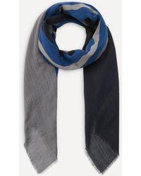 Lanvin Lightweight Block Stripe Scarf - Blue