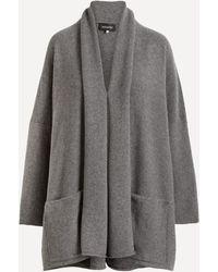 Eskandar Shawl Collar Knit Cardigan - Gray