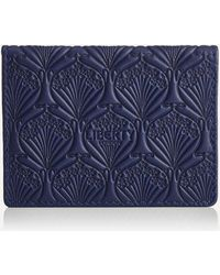 Liberty Iphis Leather Travel Card Holder - Blue