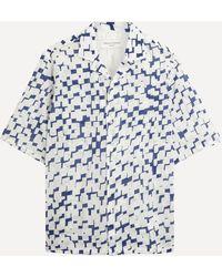 Officine Generale - Eren Geo Print Short-sleeve Shirt - Lyst