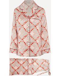 Liberty Connie Silk Charmeuse Pajama Set - Multicolor