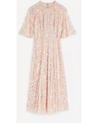 Needle & Thread Sequin Ribbon Ballerina Maxi-dress - Pink