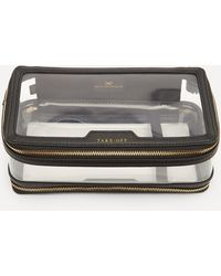 Anya Hindmarch In-flight Clear Plastic And Leather Travel Case - Black