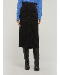 MASSCOB Biopeba Ruched Skirt - Black