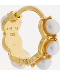 Anna + Nina Gold-plated La Perla Ring Single Hoop Earring - Metallic