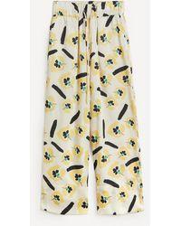 Rejina Pyo Andi Floral Satin Twill Pants - Multicolour