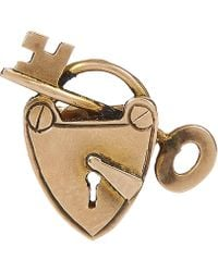 Annina Vogel - Gold Heart And Key Single Earring - Lyst