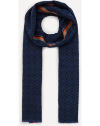 Paul Smith Stripe Detail Scarf - Blue