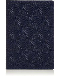 Liberty Iphis Leather Passport Cover - Blue