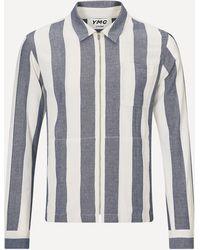 YMC Bowie Stripe Zip Shirt - Multicolor