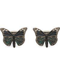 Simon Carter Butterfly Cufflinks - Multicolour